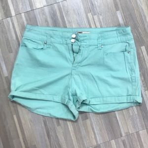 Mint colored size 15 high rise shorts